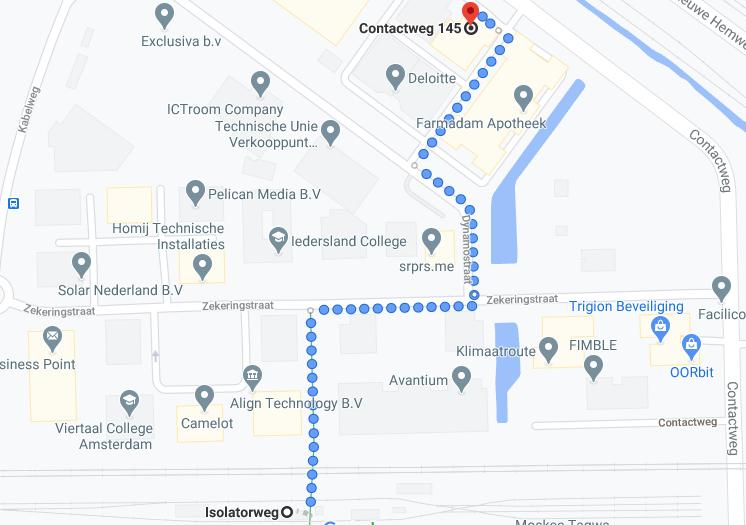 Routebeschrijving IMC