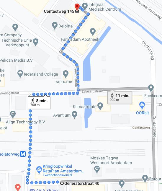 Routebeschrijving lopen