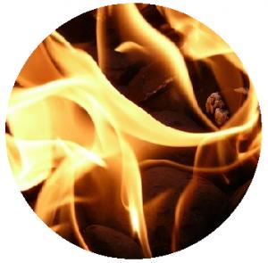 Verbrandingsprocessen droge huid